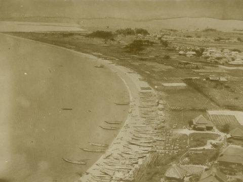 築港前の三池港付近(現在の有明海沿岸道路付近)