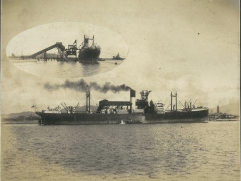 昭和2年8月18日 第1回外国船荷役(英国青筒線 S.S.TALTHYBIOUS)①