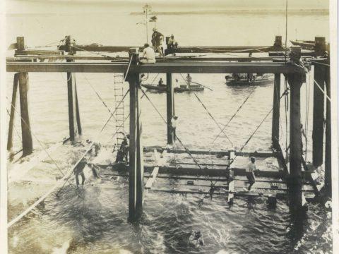 大正15年7月27日 第1回下段ケーソン沈没の刹那