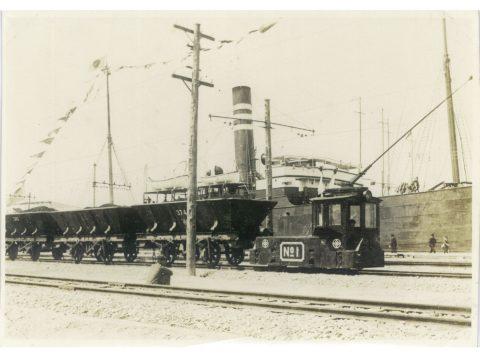 三池に於ける最初の小電車