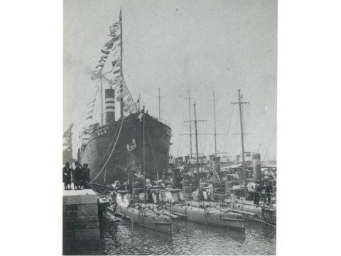 佐世保海軍特派の駆逐艦、水雷艇と三井所属の運炭船