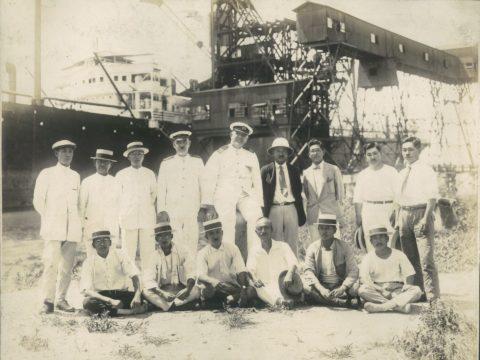 昭和2年8月18日 第1回内港船積記念(英国青筒線 S.S.TALTHYBIOUS