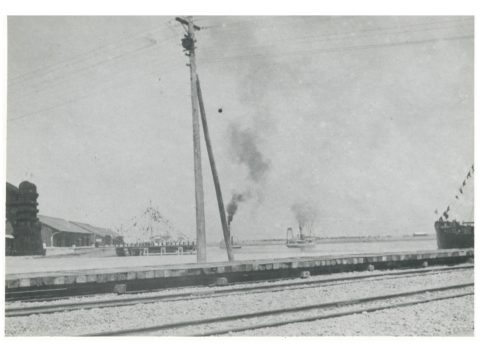 三池港築梁内の遠景