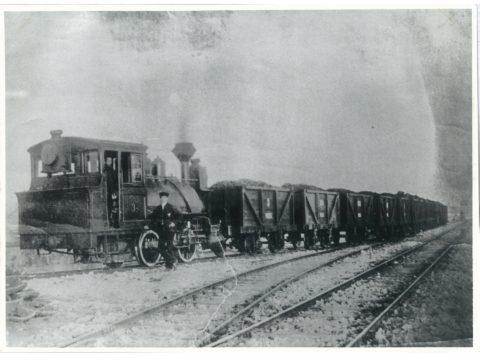 明治25年 3号汽車運炭列車(人物はジョージアルウイン)